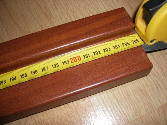 Разметка высоты хлыстов коробки
