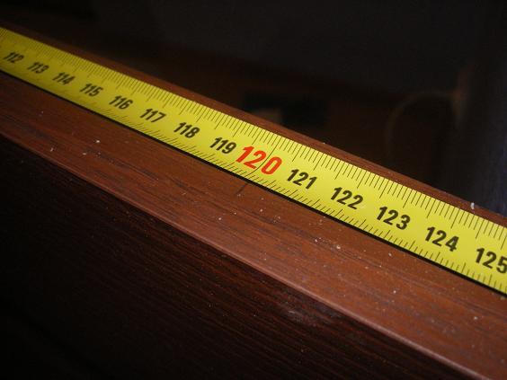 Разметка высоты врезки защелки