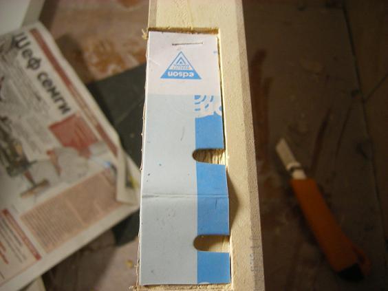 Изготовление прокладки под петлю