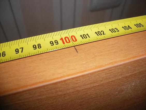 Разметка высоты ручки